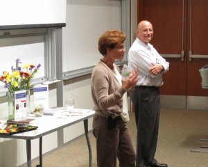 Cindy Buhse and Dan Coombes lead discussion after their presentations