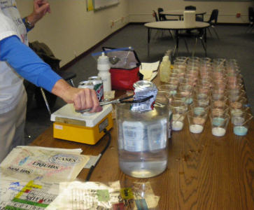"Simple equipment and simple setup serves up ""States of Matter"" to a large group of kids"