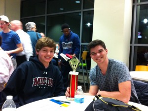 2015 Battle of Burets first place winners Ben Hahn (L) and James Meade(R) from MICDS.