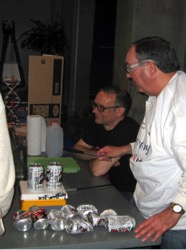 Benno Orschel and Don Sartor demonstrate Crushing Cans at the Kids and Chemistry at the Saint Louis Science Center for Chemists Celebrate Earth Day on 4/20/13. Louis Science Center for Chemists Celebrate Earth Day on 4/21/12.