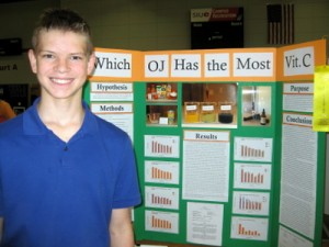 Second Place Grades 5-8:  Alexander Tillock, Grade 7, Shiloh Middle School, Shiloh, IL. 2016 Illinois Junior Academy of Science Region 12 Science Fair