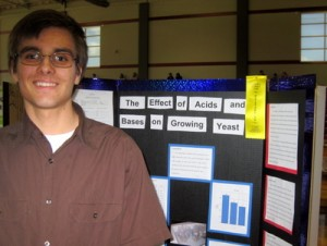 Second Place Grades 9-12:  David Baker, Grade 9, Maryville Christian School, Maryville,IL.  2016 Illinois Junior Academy of Science Region 12 Science Fair