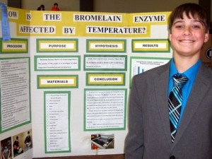 First Place Grades 5-8: Gabe Lewis, Grade 7, Waterloo Junior High, Waterloo, IL. 2016 Illinois Junior Academy of Science Region 12 Science Fair